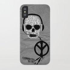 Love' skull -  a collaboration between Sam Guilhen and Gwenola de Muralt - iPhone X Slim Case