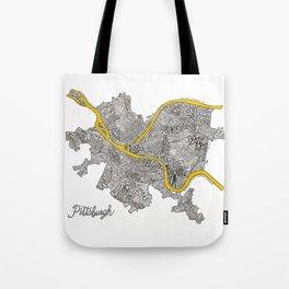 Pittsburgh Neighborhoods   3 Gold Rivers Tote Bag