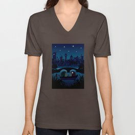 Hedgehogs in the night Unisex V-Neck