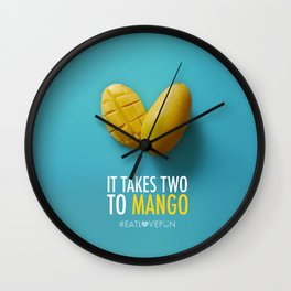 It Takes Two to Mango Wall Clock