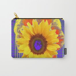 Yellow Sunflowers & Lilac Purple Patterns Carry-All Pouch