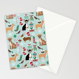 Chihuahua christmas best gifts for chihuahua owners dog pet portraits pet friendly Stationery Cards