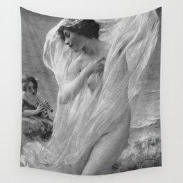 Lenoir; Danseuse de Pompei - Pompeian Dancer portrait by Charles-Amable Lenoir  Wall Tapestry