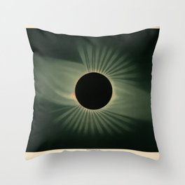 Total solar eclipse by Étienne Léopold Trouvelot (1878) Throw Pillow