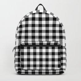 Original Milkweed White and Black Rustic Cowboy Cabin Buffalo Check Backpack