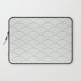 Gray Grey Seigaiha Wave Sea Salt Nautical Minimalist Laptop Sleeve