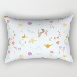 Princess Basics - Blue Rectangular Pillow