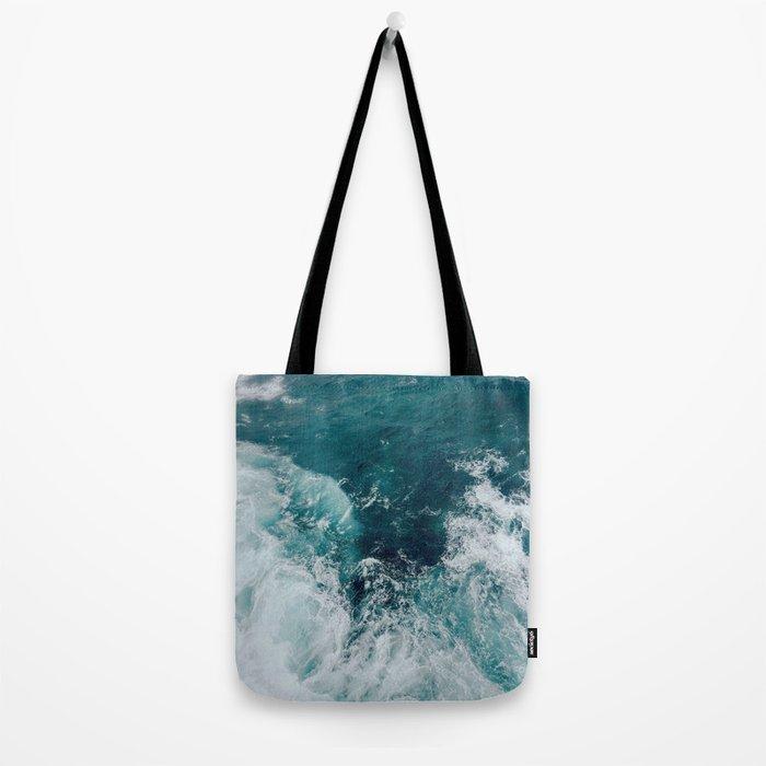 Ocean Waves (Teal) Tote Bag