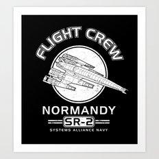 Normandy Flight Crew Art Print