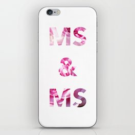 Ms & Ms Wedding Card iPhone Skin