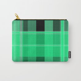 Shades of Green and Black Plaid Carry-All Pouch