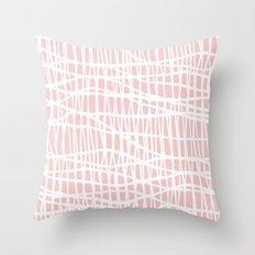 Net White on Blush Throw Pillow