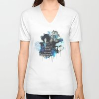 dumbledore V-neck T-shirts featuring Dumbledore by Rose's Creation