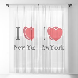 I love New York Sheer Curtain