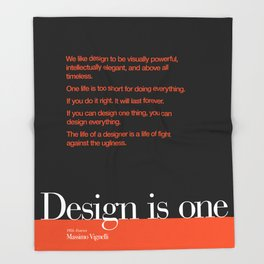 Design is One — Honoring Massimo Vignelli Throw Blanket