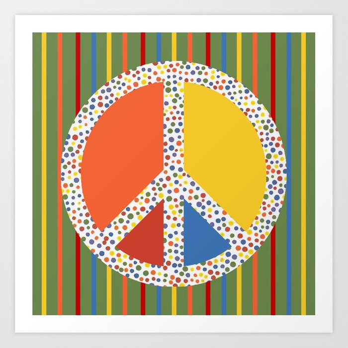 Retro Peace Sign Art Print By Artsymouse Society6