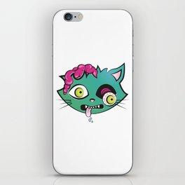 Zombi cat iPhone Skin