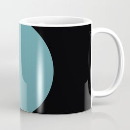 A strong Blue circular wave entering a green and black seaside. Coffee Mug