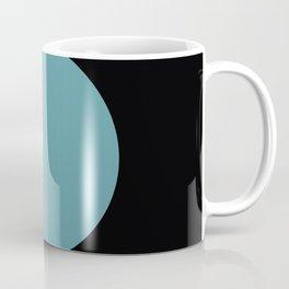 A strong Blue circular wave entering a green and black seaside. Coffee Mug