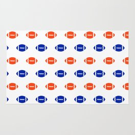 Florida fan university gators orange and blue college sports footballs pattern Rug