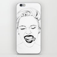 miley iPhone & iPod Skins featuring Miley by Emily Lasbury