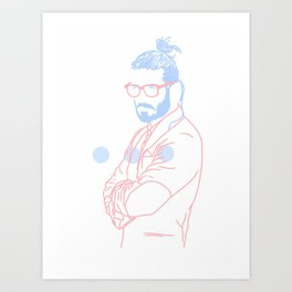 Blue Beard, 2014. Art Print