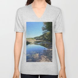 Where Canoes and Raccoons Go Series, No. 32 Unisex V-Neck