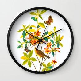 Vintage Floral Illustration Wall Clock