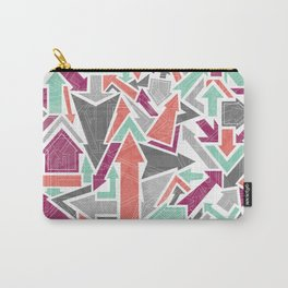 Patterned Arrows Carry-All Pouch