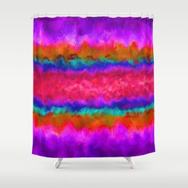Colors on Fire Shower Curtain