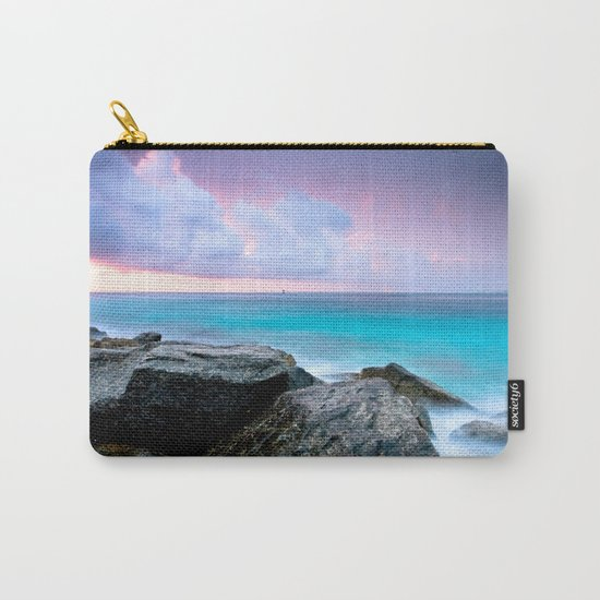 Aqua Water Pastel Pink Sunrise Carry-All Pouch