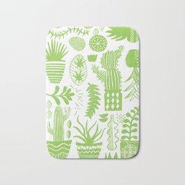 Cactii Textured Print Pattern Bath Mat