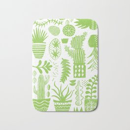 Cactii Textured Print Pattern Bath Mat