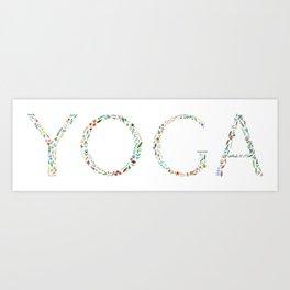 Floral Yoga Art Print
