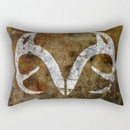 Real Tree Horns Rectangular Pillow