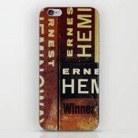 hemingway iPhone & iPod Skins featuring 3x Hemingway by Ryan W. Bradley