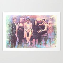 Gossip Girl American TV series Art Print
