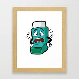 I SUCK AT BREATHING Inhaler Inhale Wheeze Sports Framed Art Print