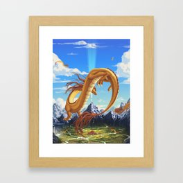 The Light Draws Them Framed Art Print