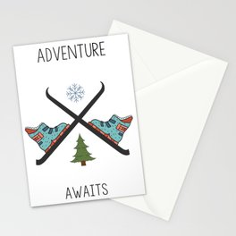 Adventure Awaits - Ski Stationery Cards