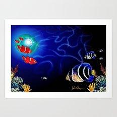 Deep Blue 2 Art Print