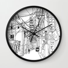 Osaka - downtown street Wall Clock