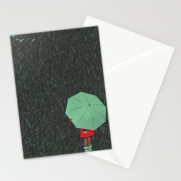 rain falls Stationery Cards