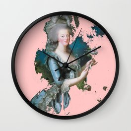 Marie Antoinette tribute pink Wall Clock