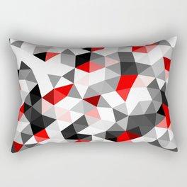 Crystal Triangles Geometrical Pattern Rectangular Pillow