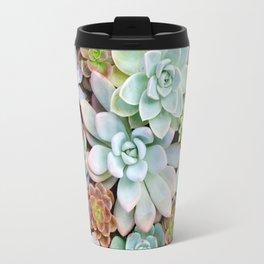 Pastel Succulent Garden Travel Mug