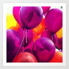 3.2 Hokie Balloons  Art Print