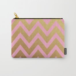 pink and gold chevron Carry-All Pouch
