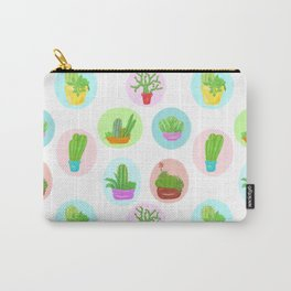Cute Cacti and Succulent Potted Plants Carry-All Pouch