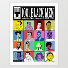 1001 Black Men: Alternative Press Expo Poster, 2012 Art Print